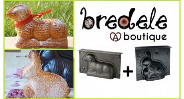 Moules à pâtisserie de Pâques, Lammele et lapin - Bredele.fr- Alsace