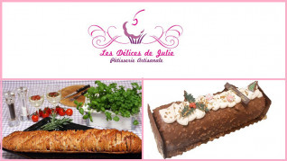 Assortiment pain surprise et bûche de Fêtes - Les Délices de Julie - Strasbourg
