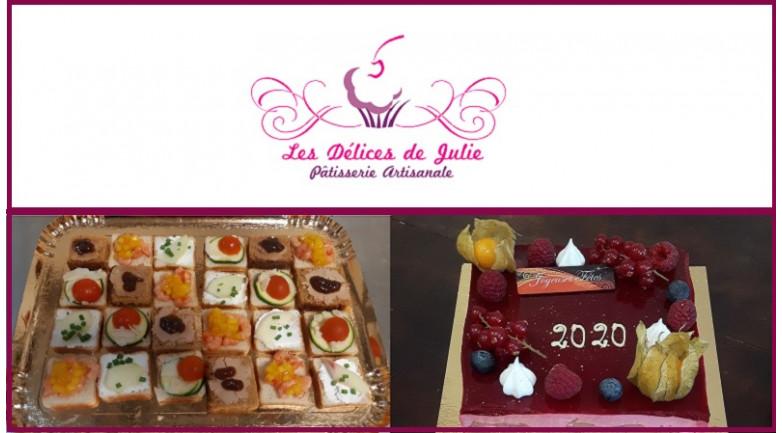 Toasts et dessert pâtissier pour les Fêtes - Les Délices de Julie - Strasbourg
