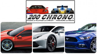 Fahrvergnügen im Ferrari, Lamborghini oder Ford Mustang - 200 Chrono - Colmar